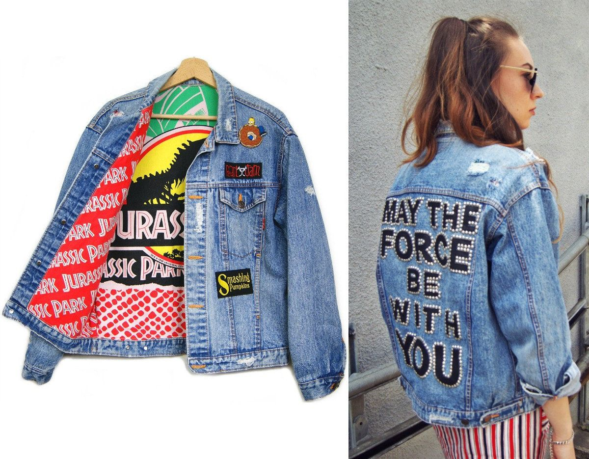 Vintage jeansjacke patches
