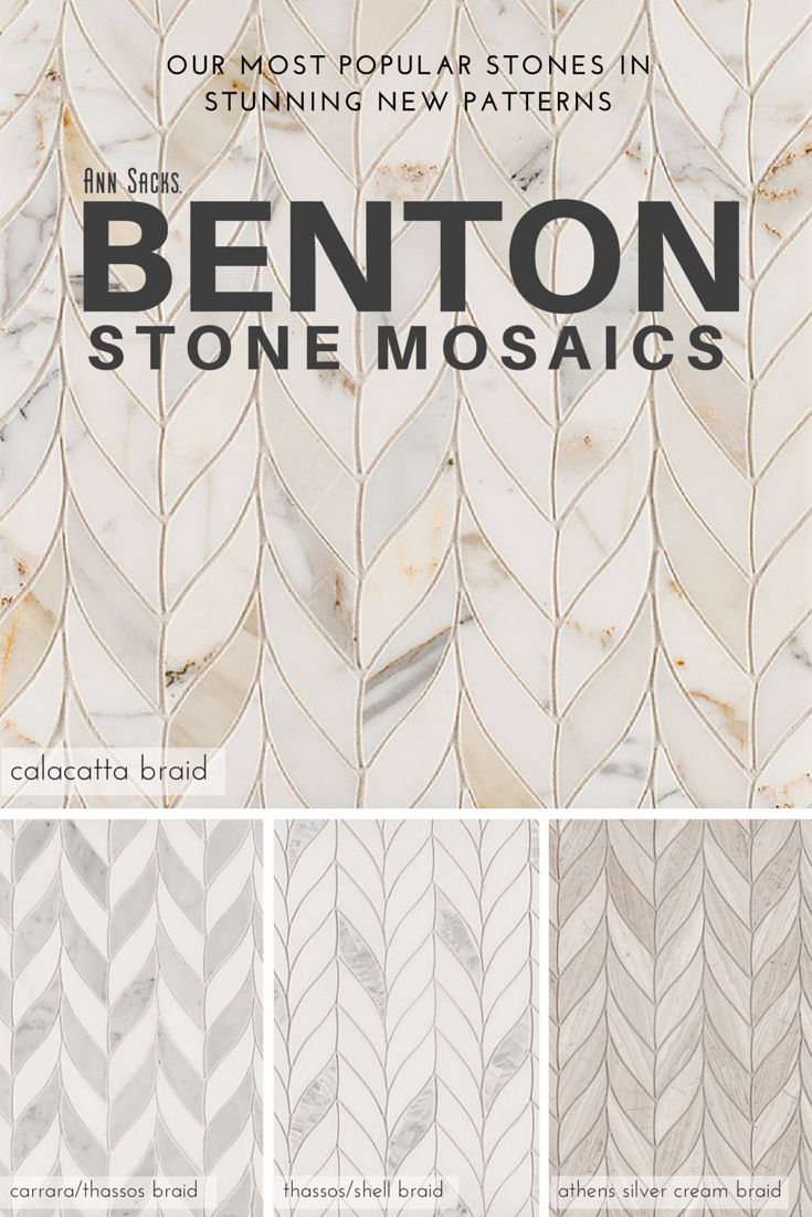 Backsplash Tile Patterns new benton stone mosaics in braid pattern. tiles come in calacatta