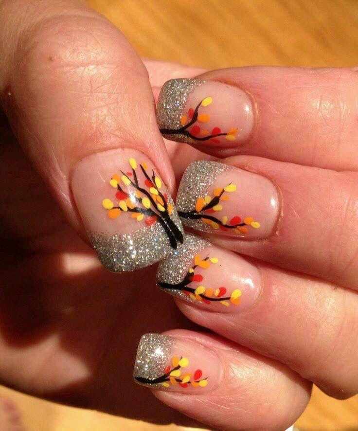 Glitter. Fall | Nails | Pinterest | Autumn nails, Thanksgiving nails ...