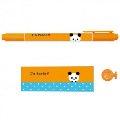 Twin Tip Fun Friends Marker I'm Panda - Orange (◕ᴥ◕) Kawaii Panda - Making Life Cuter