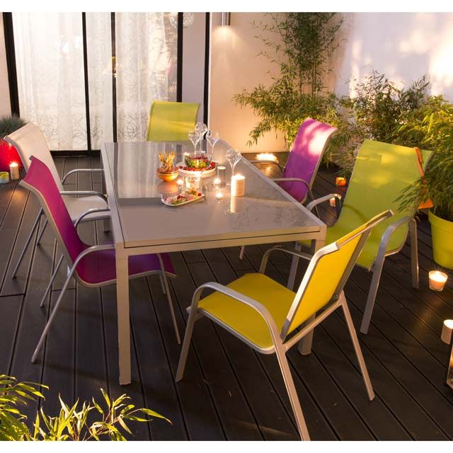 Table de jardin en verre Verena 190/300 x 100 cm - CASTORAMA ...