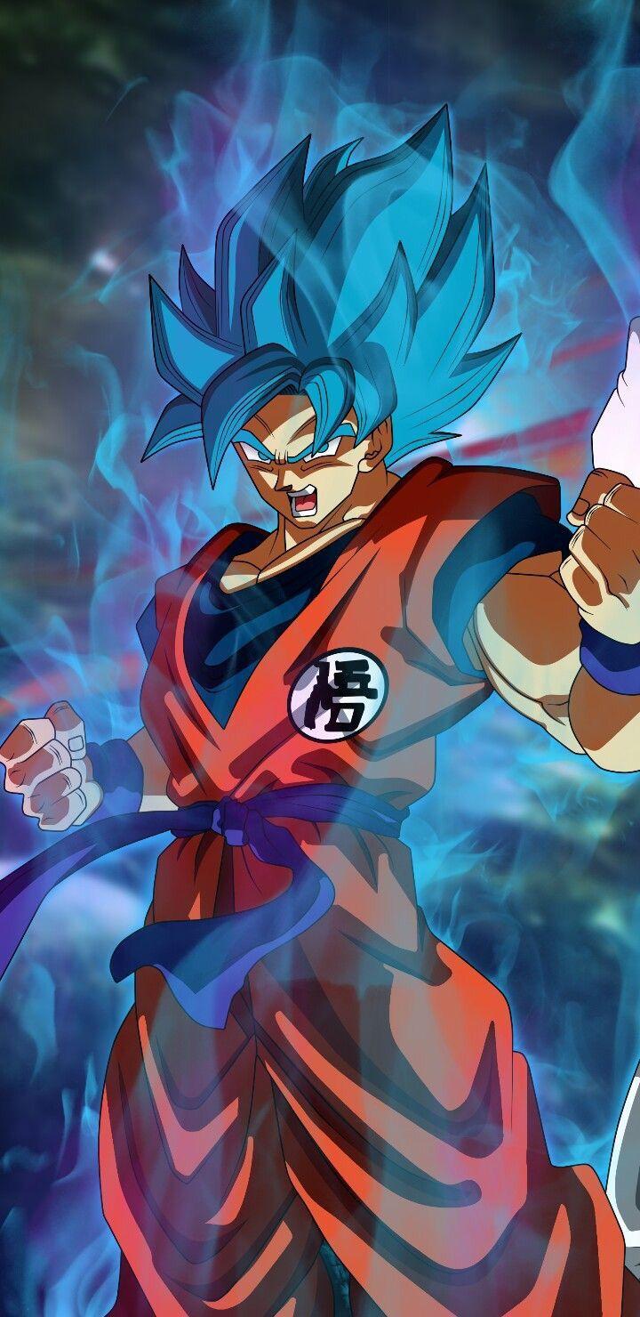 Goku super saiyan blue dragon ball super artwork anime