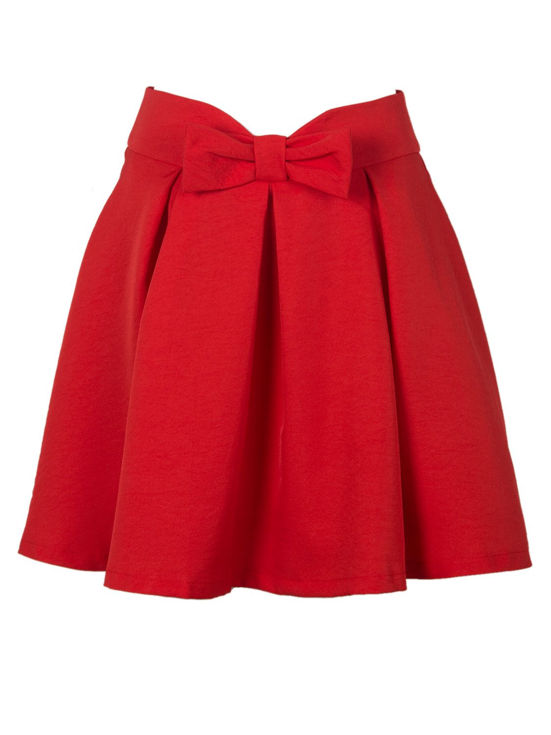 2910ca841c cute red bow skirt for the holidays | Clothing Envy | Red pleated ...