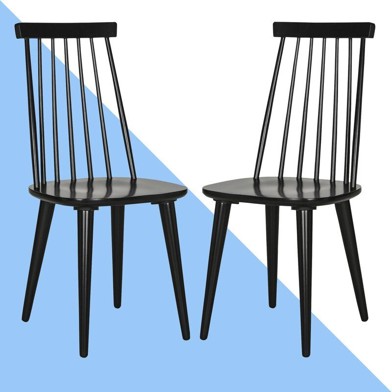 Spindle Slat Back Side Chair Solid Wood Dining Chairs Dining