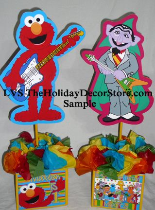 personalized-sesame-street-rockin-elmo-birthday-party-supplies-centerpiece-handmade-guitar-rock-star-polka-dots-table-topper-1st-birthday-count | Flickr - Photo Sharing!