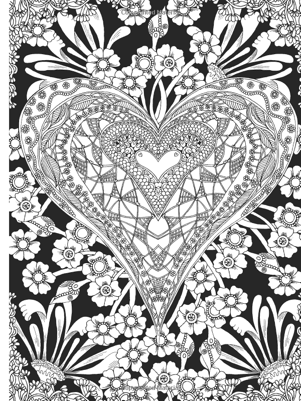 Amazoncom Creative Haven Midnight Garden Coloring Book Heart