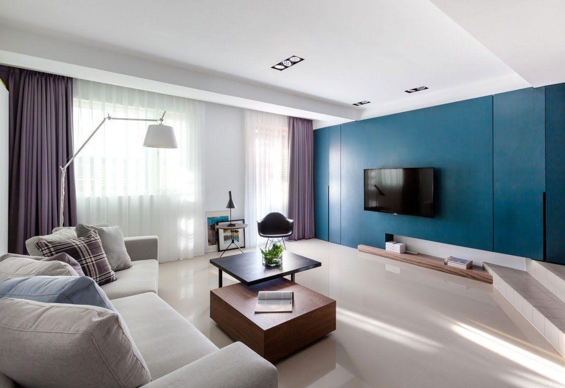 Soggiorno blu ~ Soggiorni moderni u idee e stile per il soggiorno ideale