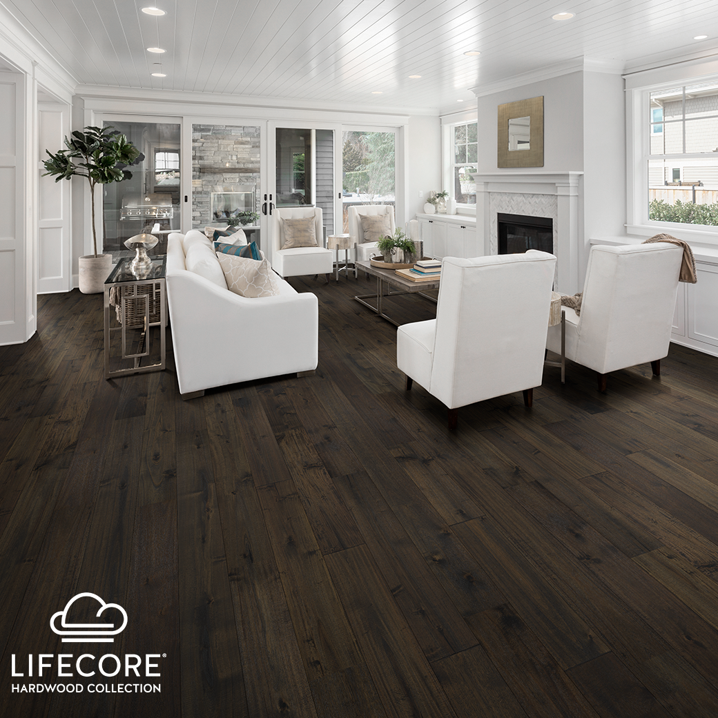 With Abella Artisan Air Any Traditional Design Can Make A Statement And With Th Wooden Floors Living Room Dark Wood Floors Living Room Dark Brown Wood Floors