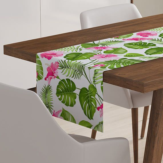 Tropical Table Décor Tropical Runner Tropical Table Runner