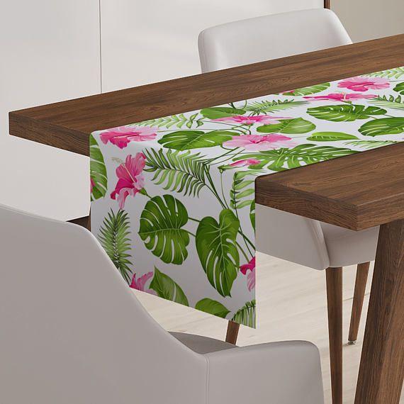 Tropical Table Décor Tropical Runner Tropical Table Runner
