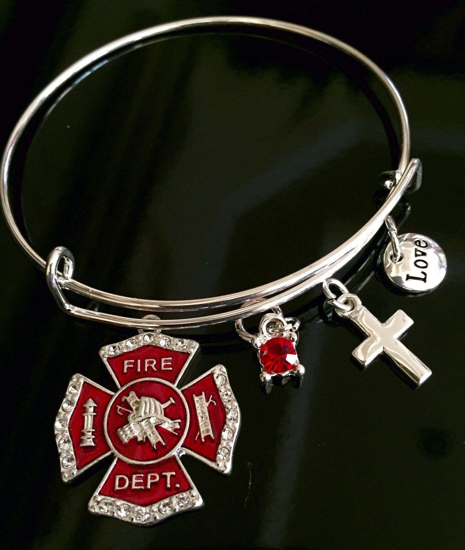 Firefighter first responder bracelet gift for wife or