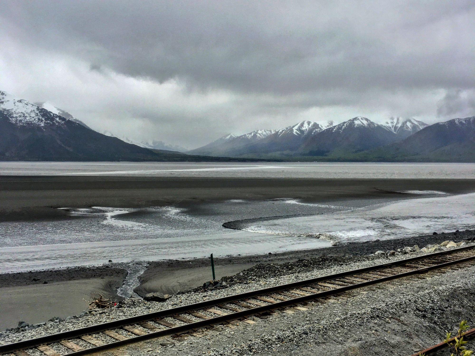 Bore Tide at Falls Creek trailhead – Seward Highway, Anchorage, Alaska – brittanytravelPT