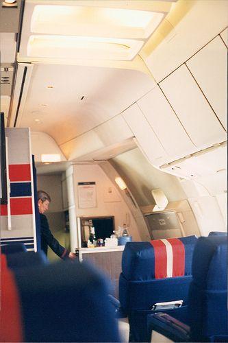 TWA Convair 880 N817TW Economy Class. This airframe was ...  Twa 747 Cabin