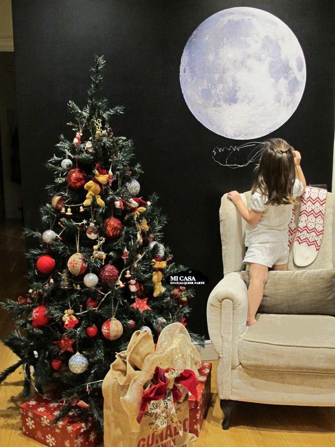 Luna llena en pared de pizarra decoracion de navidad - Blog decoracion navidad ...