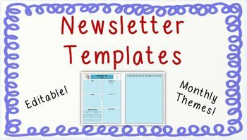 freebie i use these newsletters with my fifth grade students but