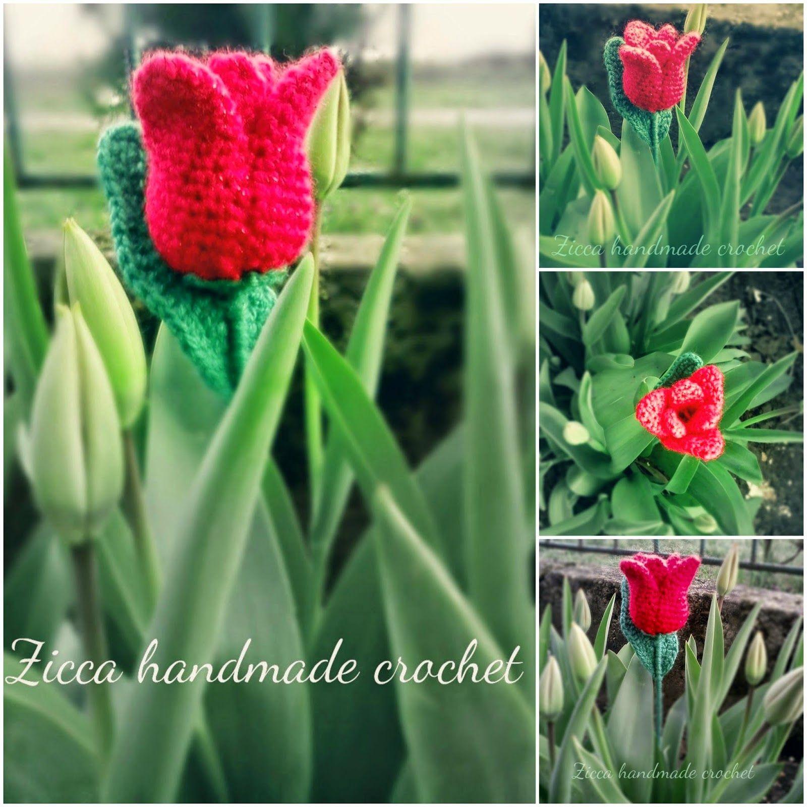 Horgolás minden mennyiségben!!!: Horgolt tulipán leírása | Crochet ...