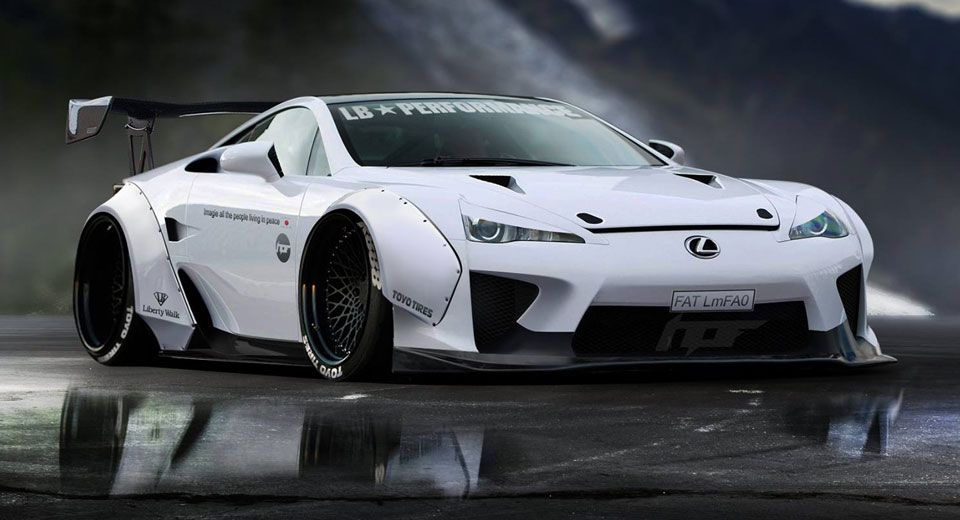 Lexus Lfa Gets A Virtual Liberty Walk Makeover Carscoops Lexus Lfa Lexus Liberty Walk