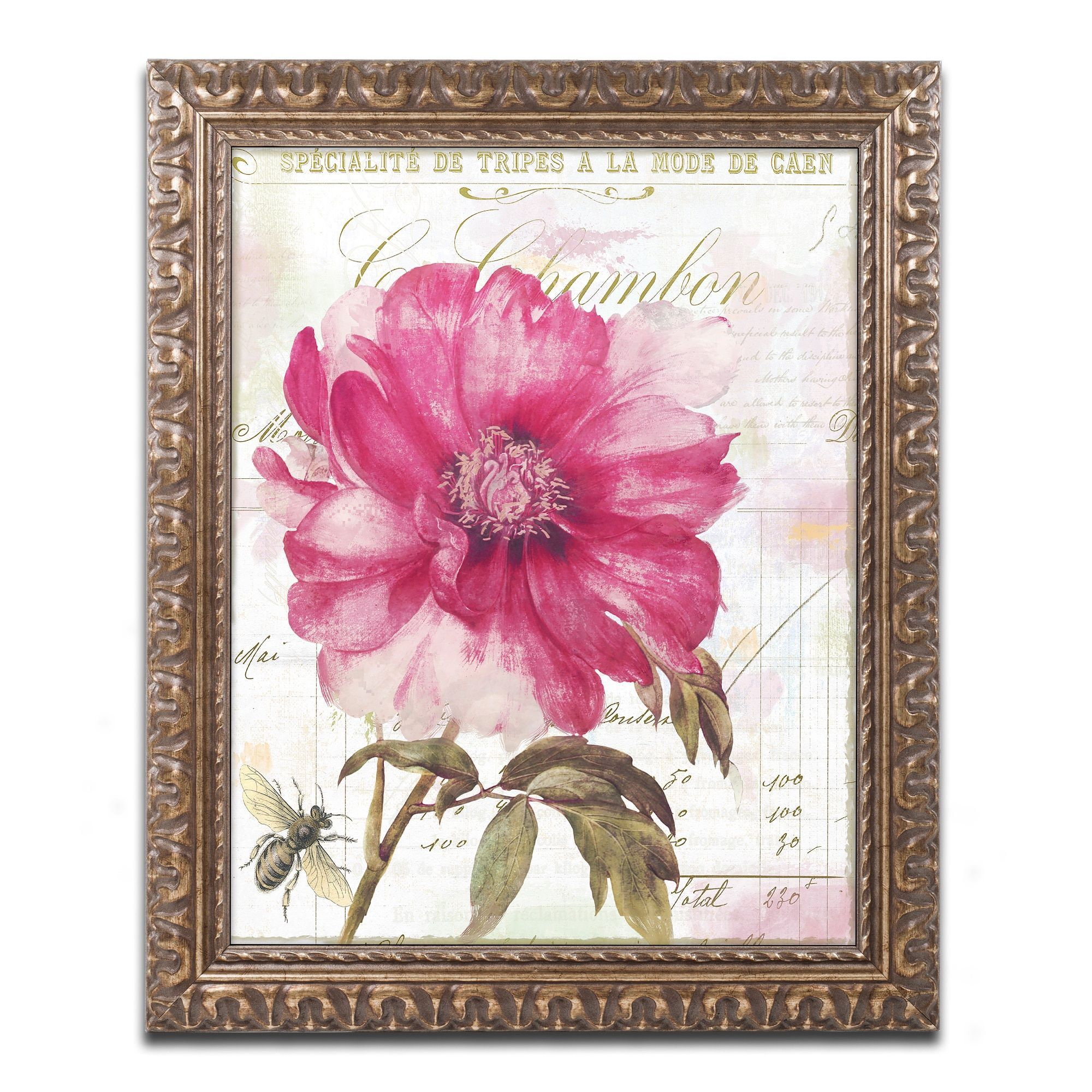 Color Bakery 'Le With Bee' Ornate Framed Art