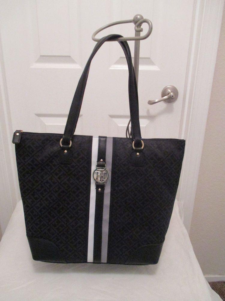Tommy Hilfiger Handbag Purse Authentic Black NS Tote 6925772 990 Brand New   TommyHilfiger  Tote 51ebd49bf9c67