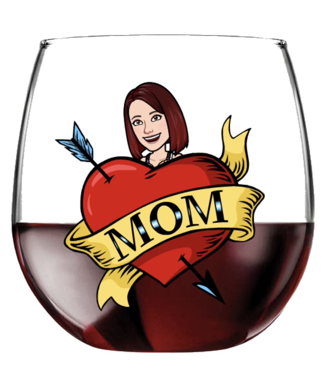 Bitmoji Stemless Wine Glass Opening An Etsy Shop Unique Items Products Stemless Wine Glass
