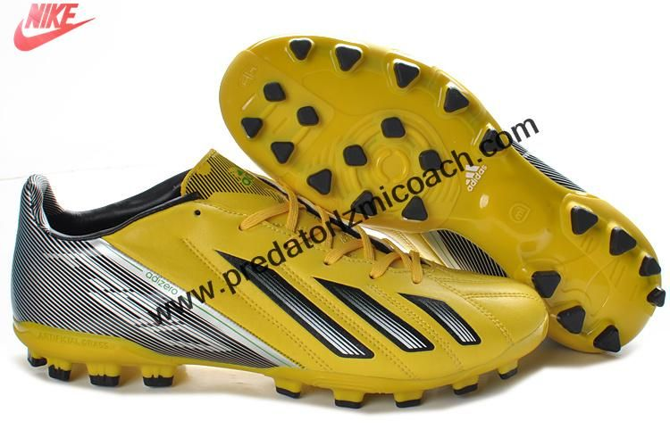 new products 8b98f 302c0 Sale Cheap Adidas F10 TRX AG Football Boots Messi 7 - Yellow Black White Football  Shoes Store