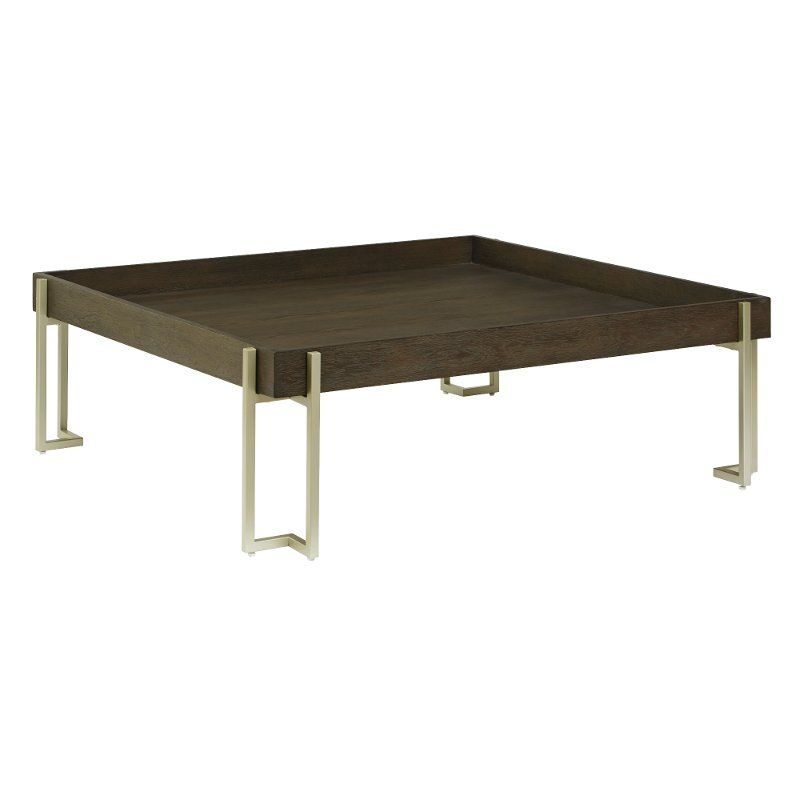 Dark Truffle Brown Square Coffee Table Arkell Coffee Table