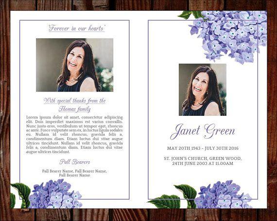 printable funeral program template celebration of life obituary