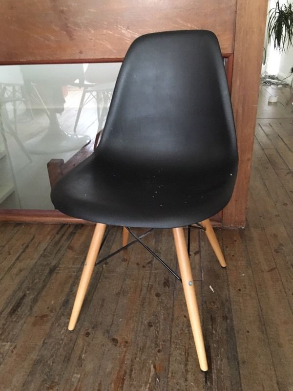 2 Black Eames Style Bucket Chairs Islington London - Eames Chair London