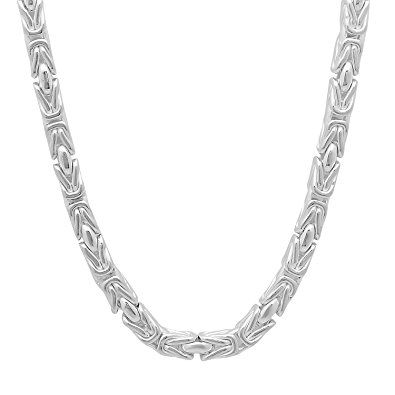 3mm - 15mm .925 Sterling Silver Italian Crafted Flat Herringbone Link Chain Necklace, 16