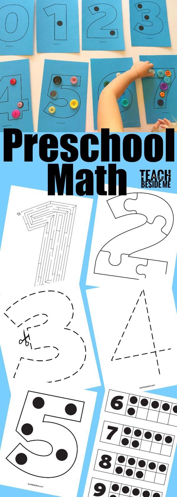 Preschool Math Activities | Preschool | Pinterest | Teaching numbers ...