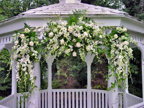 wedding gazebo decorations Arches Huppas Candelabras Stands