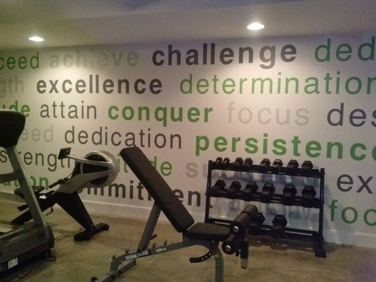 exercise room wall decal trading phrases tap the pin if you love