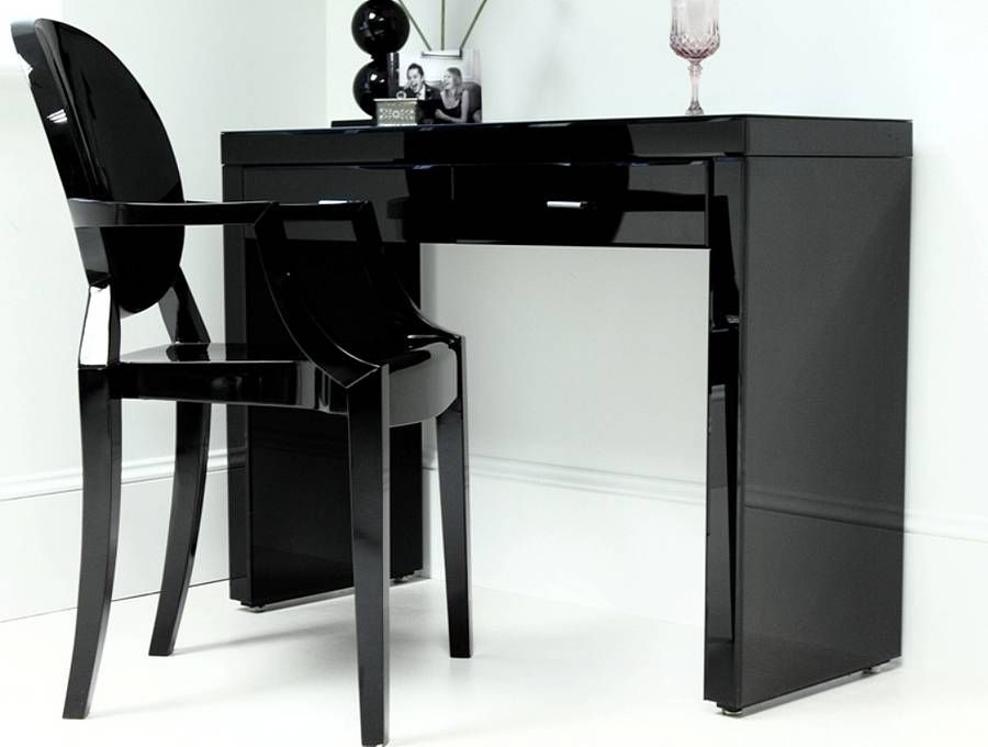 Antonia Glass Dressing Table Black Dressing Tables Dressing