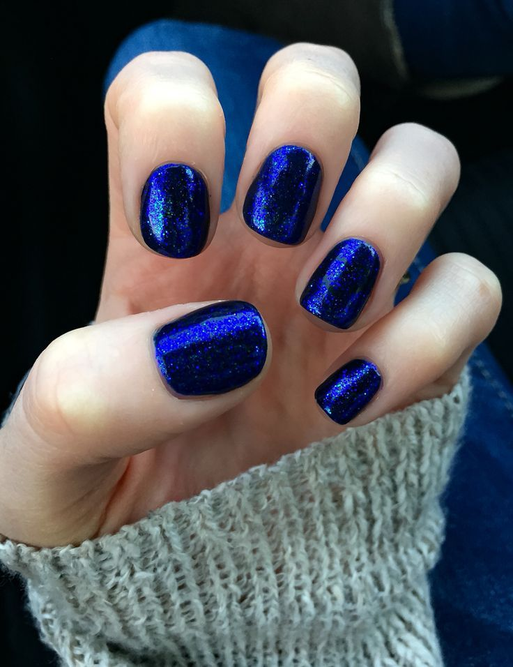 midnight swim cnd shellac with cnd additive in periwinkle twinkle nail design nail art - Shellac Nail Design Ideas