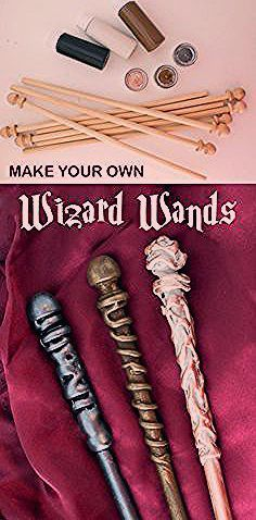 Photo of HP Magic Wizard's Wand Making Kit – MAKES 8 – DIY wands for party favors or games