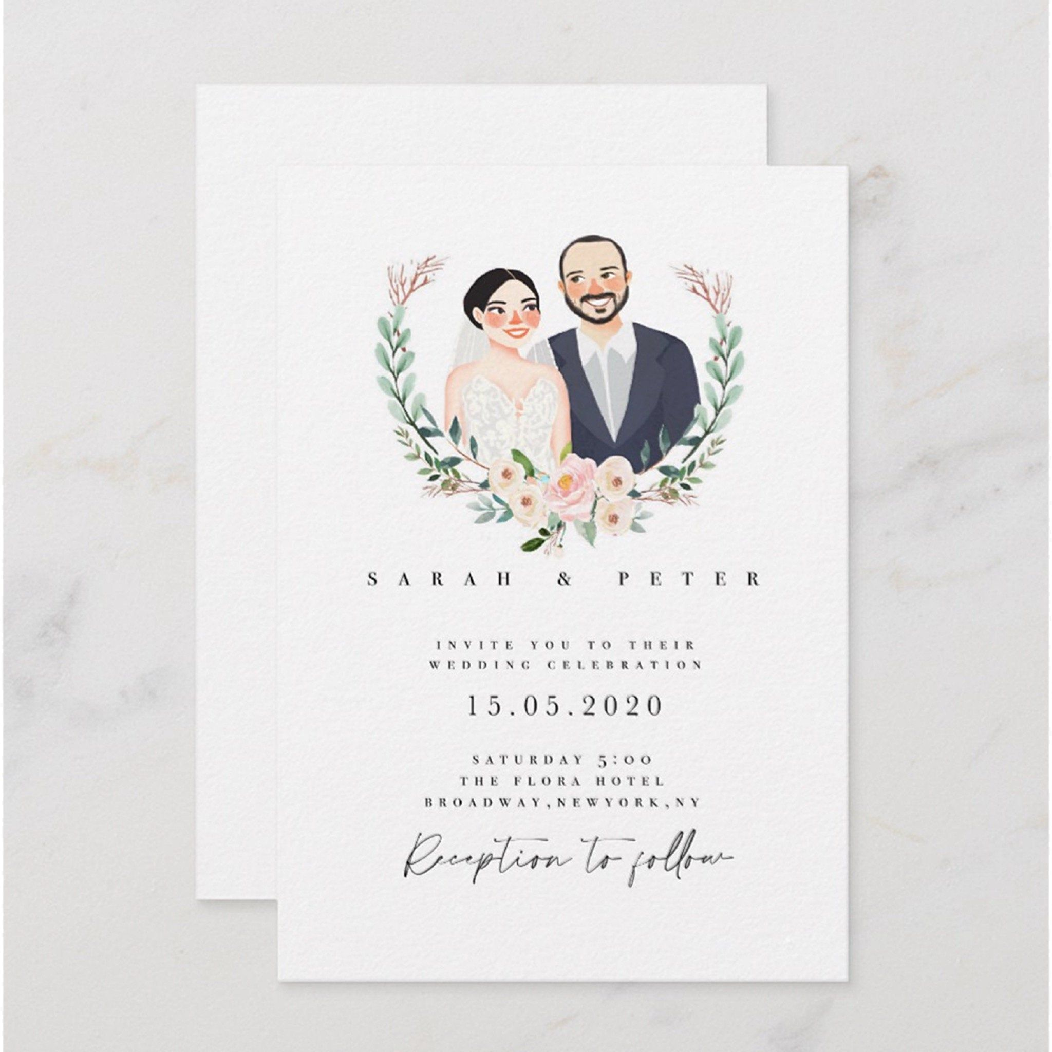Wedding Invitations With Pictures Of Couple