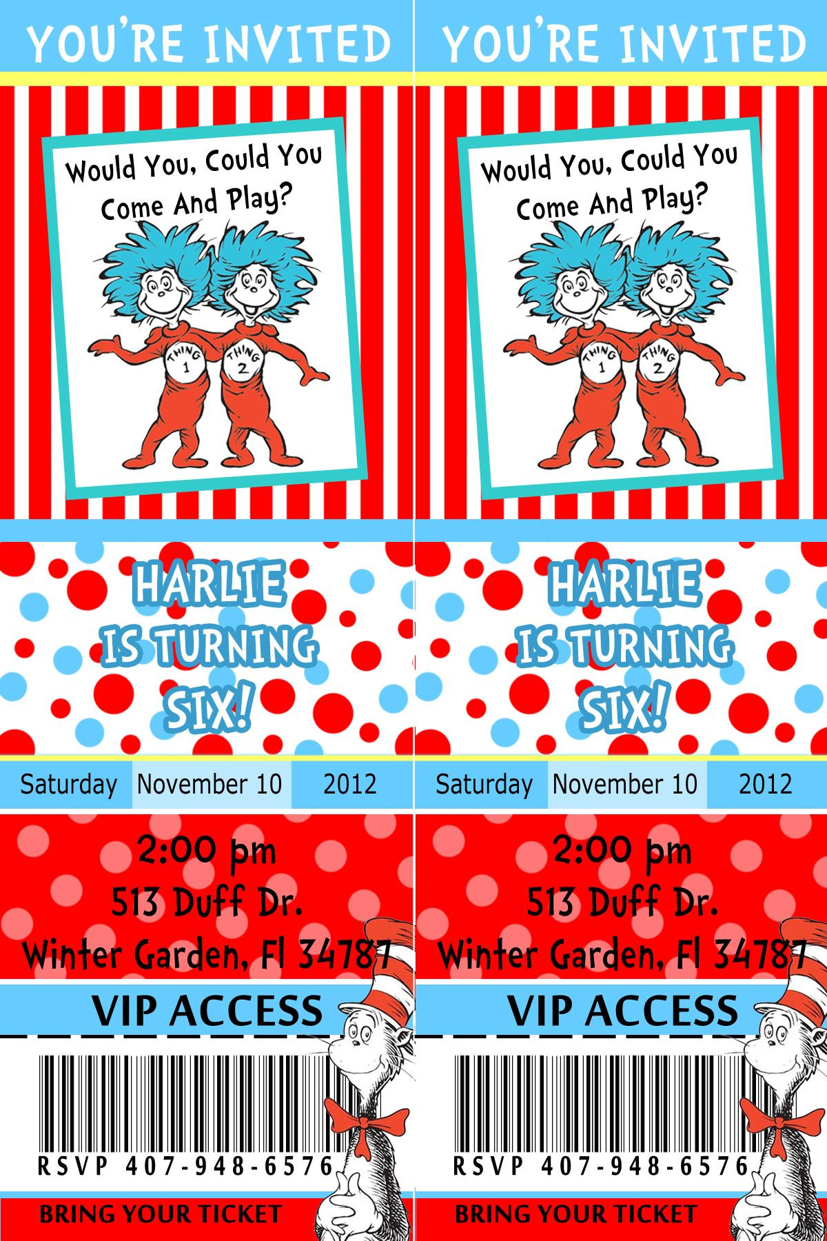 Dr Seuss Party invitation | Birthday madness | Pinterest | Party ...