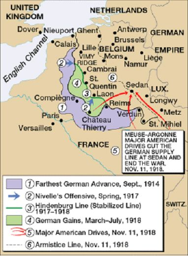 Map world war 1 western front world war i pinterest history map world war 1 western front gumiabroncs Choice Image