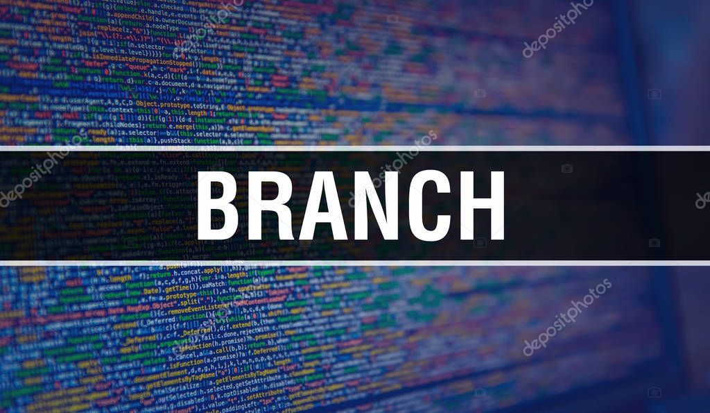 Branch With Binary Code Digital Technology Background Abstract Stock P Sponsored Code Digital Branch Binary Ad