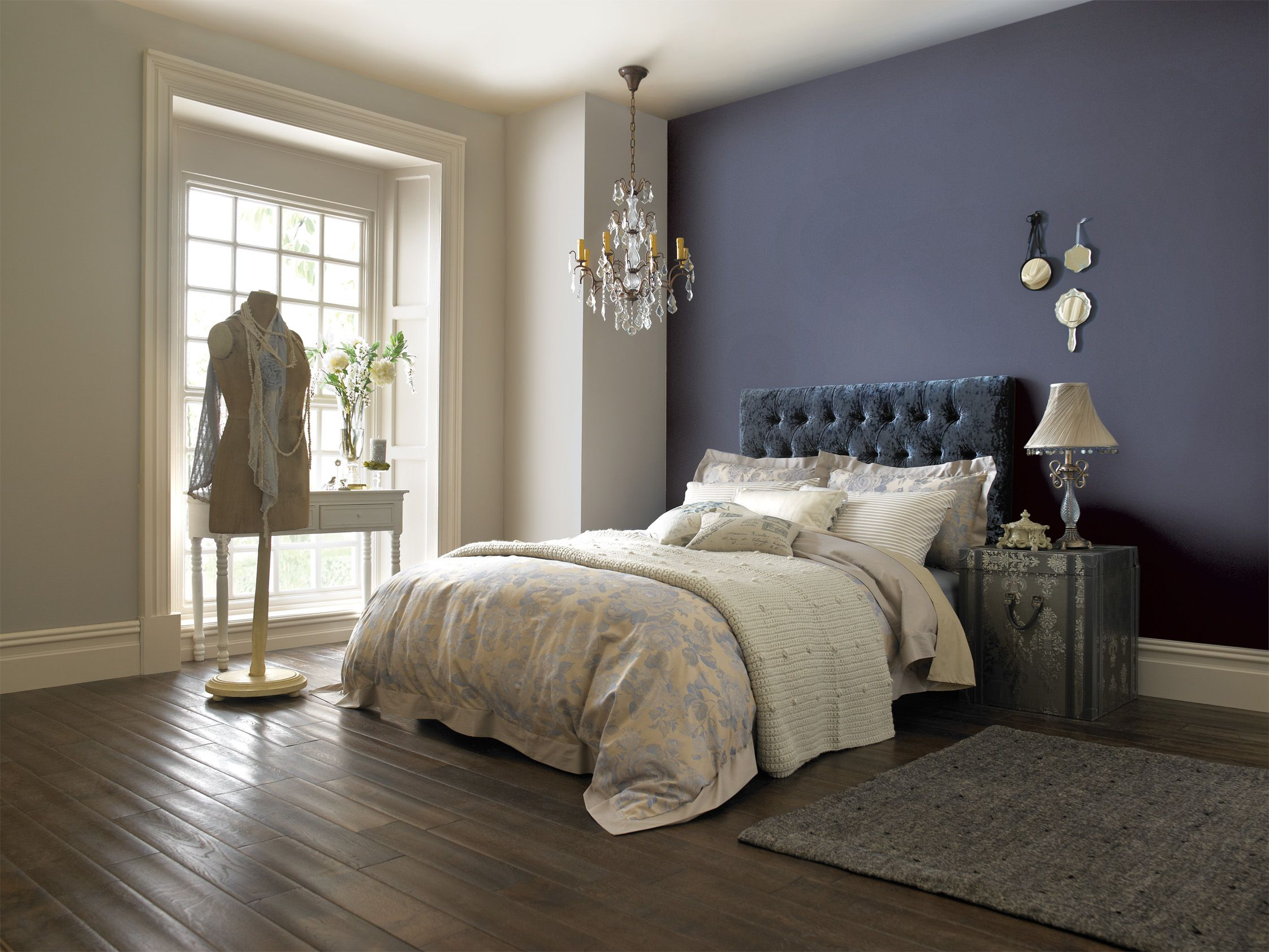 Beautiful bedroom painted with crown paint for the home - Blue bedroom paint ideas ...
