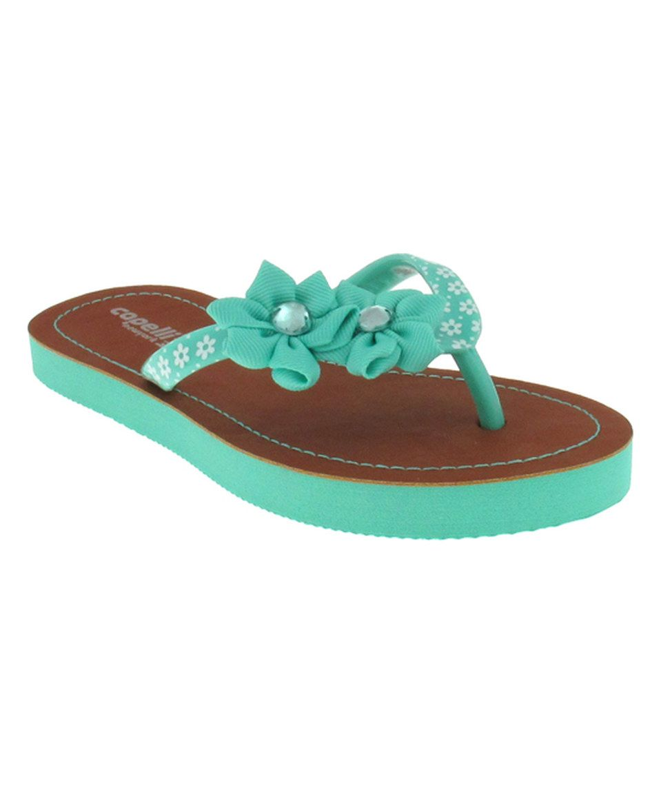 5ef384bca424 Capelli New York Mint Rhinestone   Flower Flip-Flop by Capelli New York   zulily  zulilyfinds