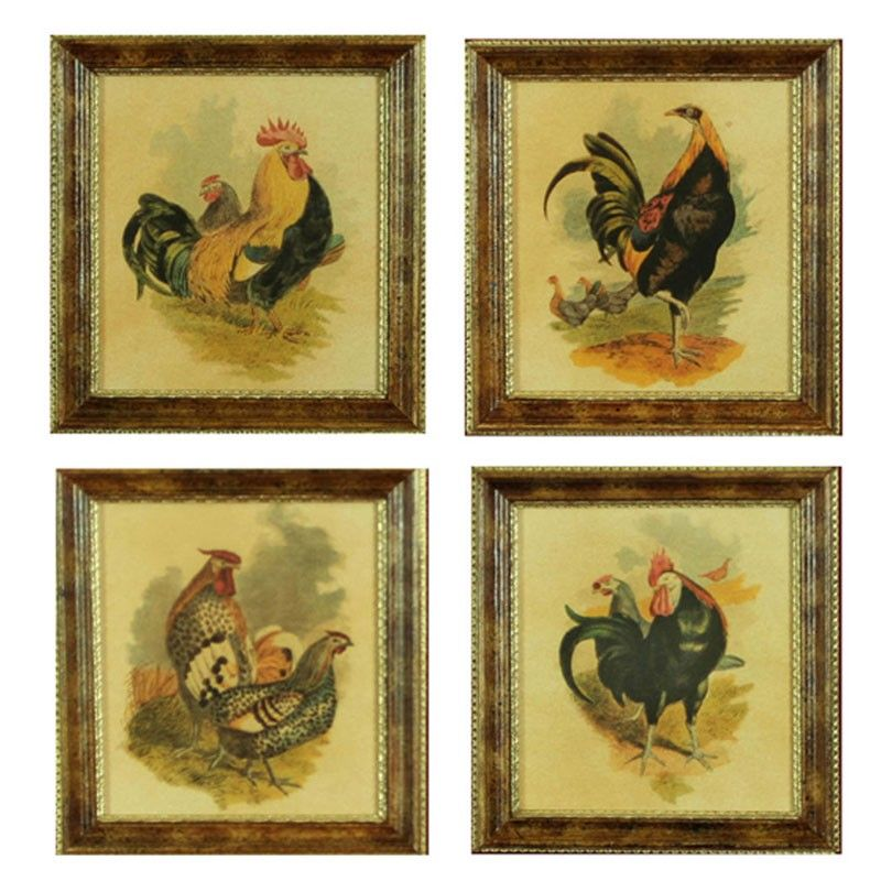H hal kramer co vintage country rooster wall decor