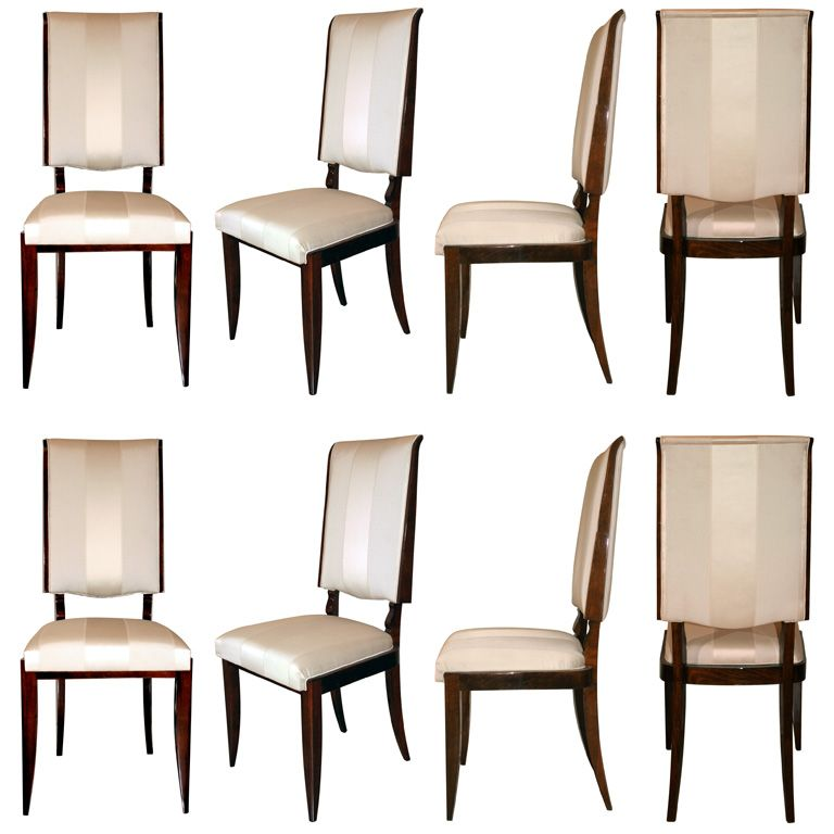 Art Deco Dining Room Sets: Set Of 6 Art Deco Dining Chairs