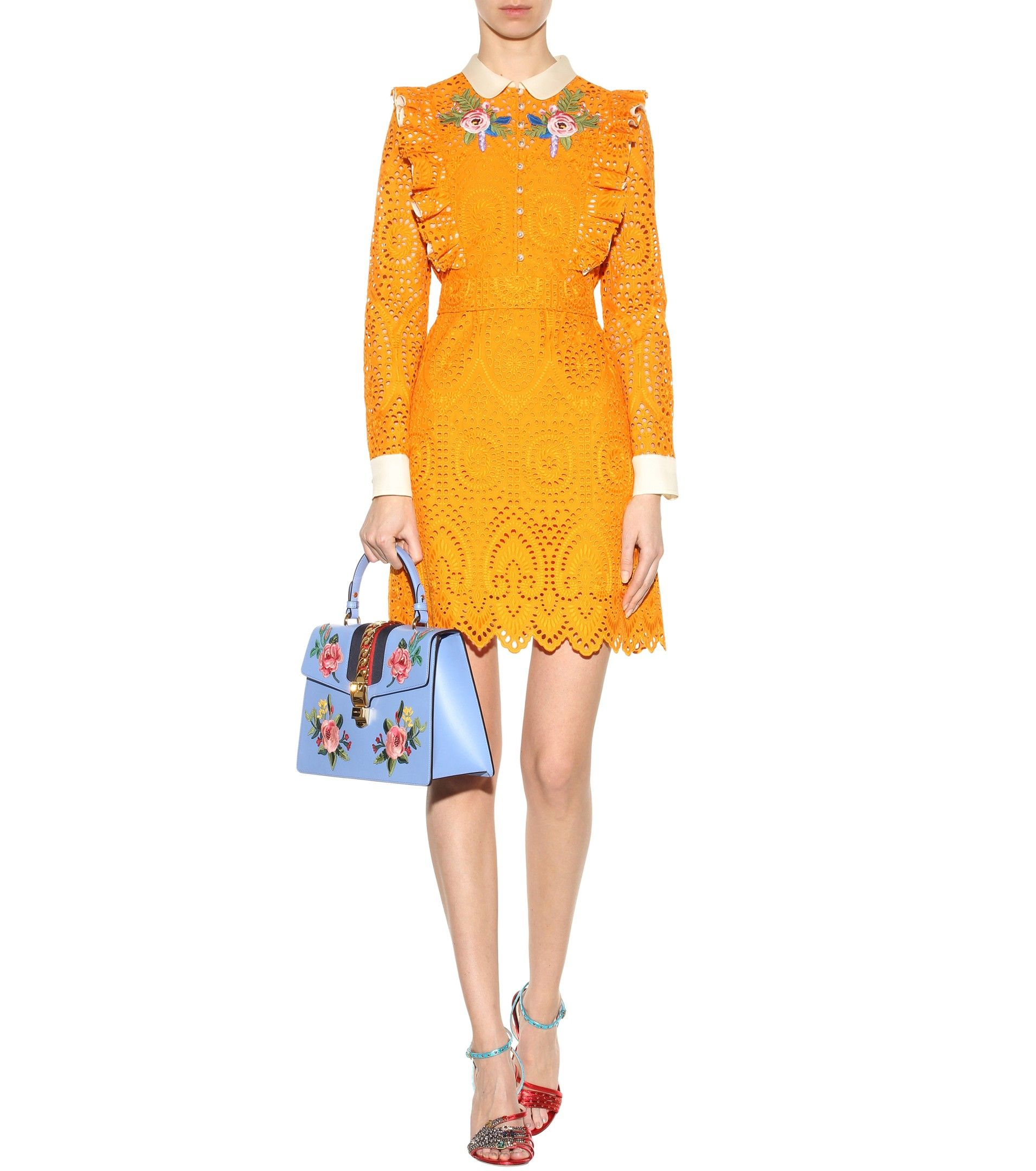 Embroidered Broderie Anglaise Dress | Gucci - mytheresa | xšití ...