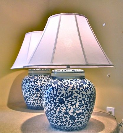 Blue Ginger Jar Bedroom Lamps love the shades | For the Home ...