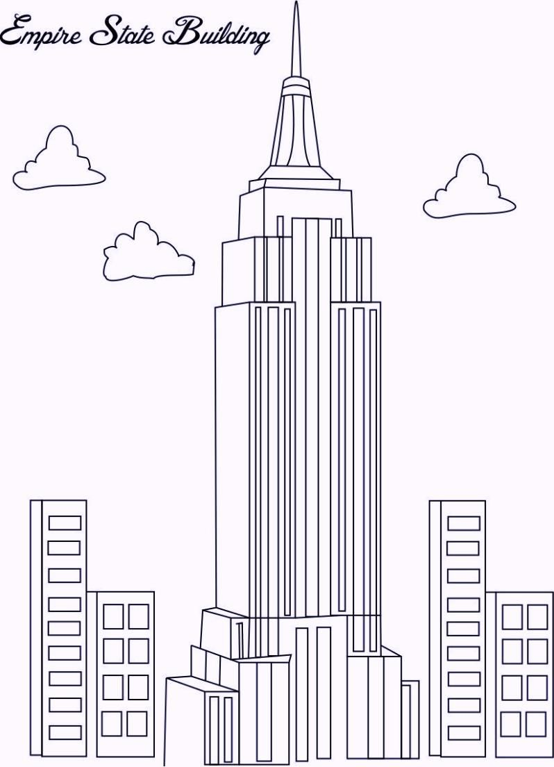 Pin By Megan Hardin On Art Empire State Building Drawing Building Drawing Empire State Building