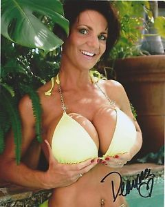 deauxma yellow swimsuit film star hand signed 8x10 autographed photo