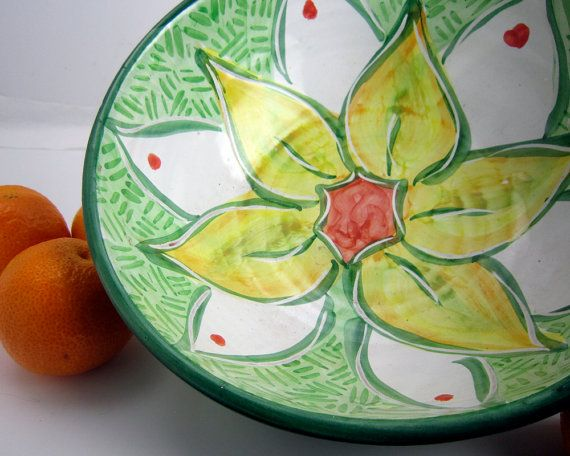 Earthenware Pottery Clay Majolica Serving by ClayLickCreekPottery, $60.00