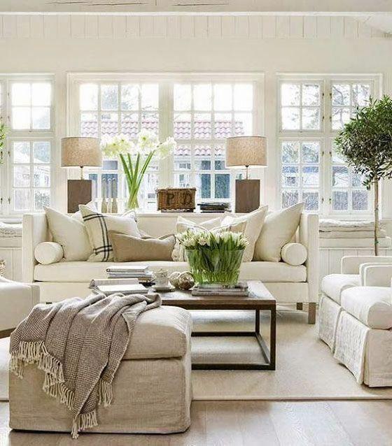 36 Light Cream and Beige Living Room Design Ideas   Wohnen ...