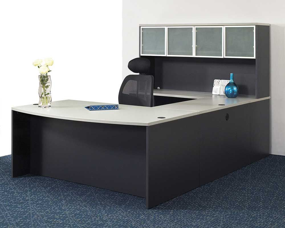 Simple office table design - Office Workspace Simple Smart Executive Office Furniture Set Design Ideas With Modern Desk Set And Beautiful Drawer Also Comfortable Black Swivel Chair